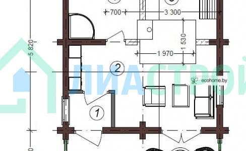 Проект бани №16