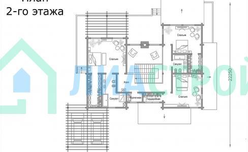 Проект дома из бруса №17