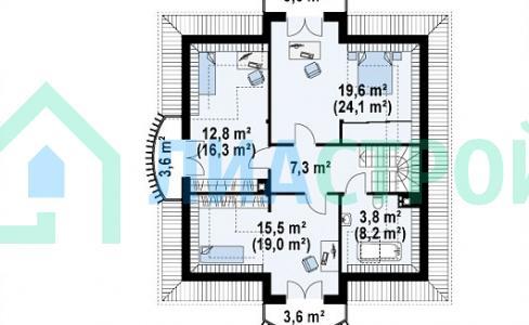 Проект дома из газобетона №19