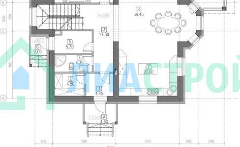Проект дома из кирпича №27