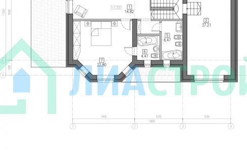 Проект дома из кирпича №28