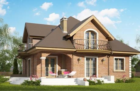 Проект дома из газобетона №25
