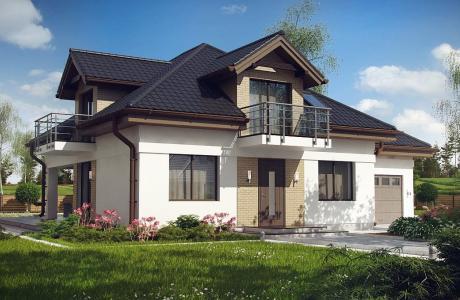 Проект дома из газобетона №28