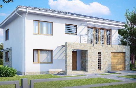 Проект дома из газобетона №30