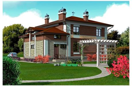Проект дома из кирпича №14
