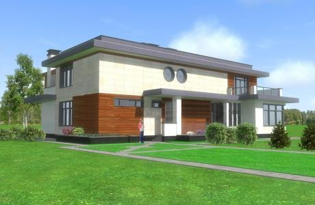 Проект дома из кирпича №16