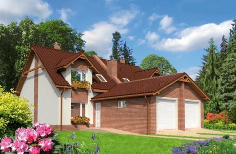 Проект дома из кирпича №22