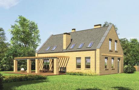 Проект дома из кирпича №24