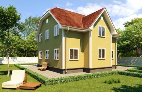 Проект каркасного дома №22