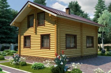 Проекты дома из бревна №19
