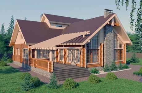 Проекты дома из бревна №20