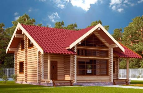 Проекты дома из бревна №22