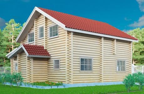 Проекты дома из бревна №23