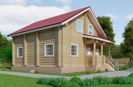 Проекты дома из бревна №24