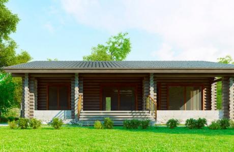 Проекты дома из бревна №25