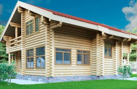 Проекты дома из бревна №27