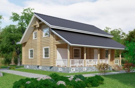 Проекты дома из бревна №30