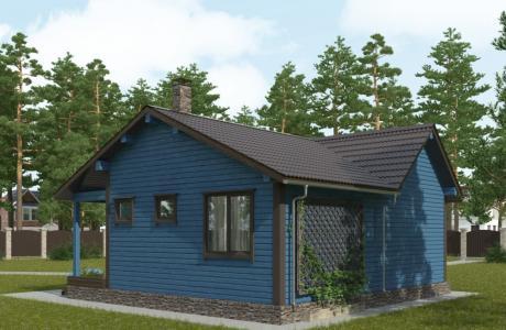 Проекты дома из брус №24