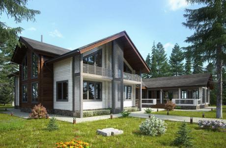 Проекты дома из бруса №18