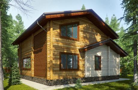 Проекты дома из бруса №19
