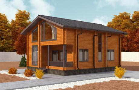 Проекты дома из бруса №22