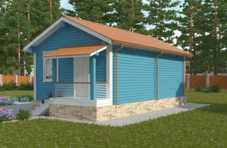 Проекты дома из бруса №23