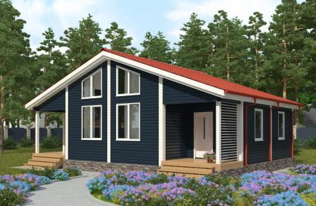Проекты дома из бруса №27