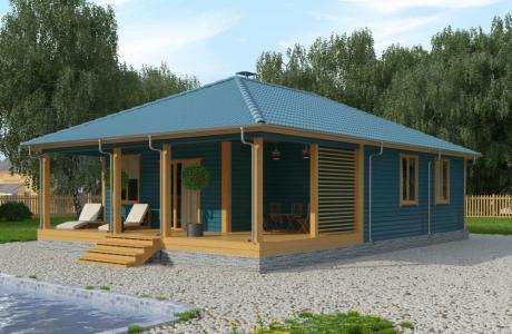 Проекты дома из бруса №28
