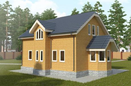 Проекты дома из бруса №29